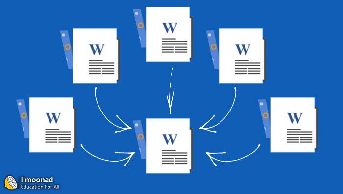 چگونه چند فایل ورد را بدون بهم خوردن تنظیمات ادغام کنیم ؟