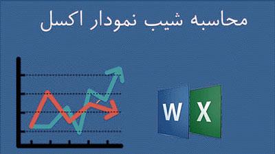 محاسبه شیب نمودار اکسل (Excel) و ورد (Word)