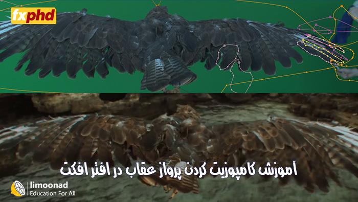 دوره آموزش کامپوزیت کردن پرواز عقاب در افتر افکت